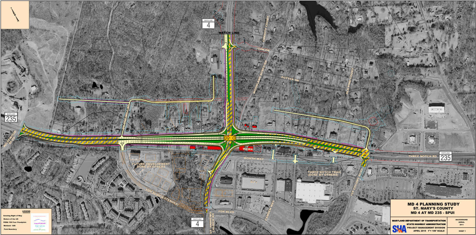 Patuxent-Beach-Rd-MD-4-Expanding-Intersection-with-Three-Notch-Rd-St-Marys-County